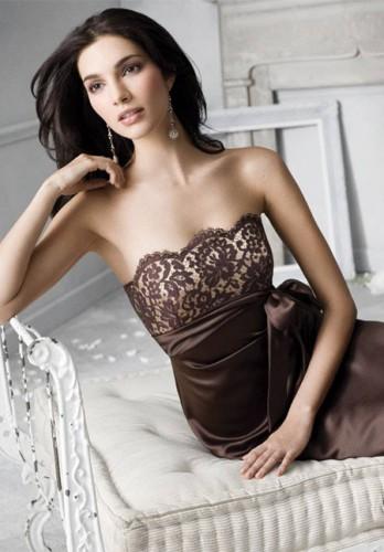 dantel detayli straplez kurdelali 2012 elbise modelleri Yazlık Trend Straplez Elbise Modelleri 18