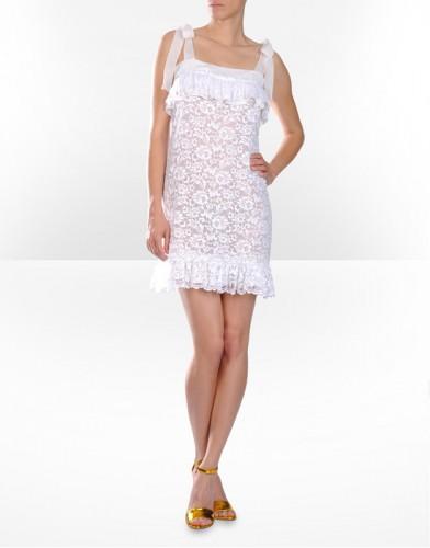 dantel kurdela askili beyaz mini elbise modelleri Yeni Sezon Dolce Gabbana Kreasyonu 4
