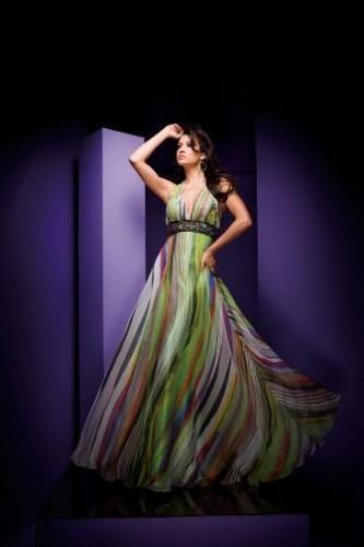 desenli sifon rengarenk sifon elbiseler Yeni Sezon Yazlık Şifon Elbise Modelleri 19