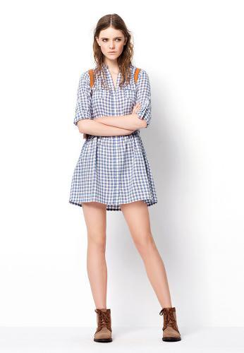 ekose desenli mini zara elbise modelleri1 Yeni Sezon Zara Giyim Koleksiyonu 3