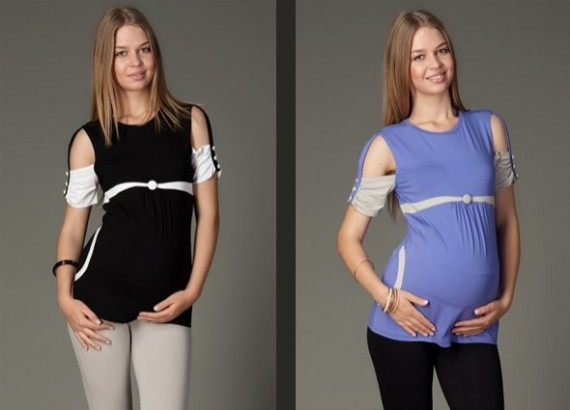 en guzel farkli hamile bluzlari t shirtleri1 Trend Farklı Hamile T-Shirt Modelleri 15