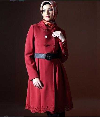 etekleri kendinden islemeli manto modelleri En Güzel Tesettür Giyim Modelleri 9