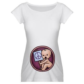 farkli ilginc kisa kollu hamile t shirtleri1 Trend Farklı Hamile T-Shirt Modelleri 23