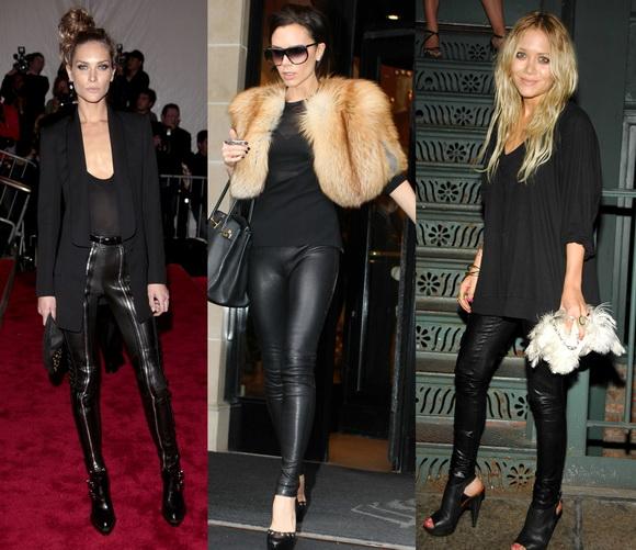 farkli trend ilginc 2012 yeni sezon deri taytlar Yeni Trend 2012 En Güzel Farklı Tayt Modelleri 13