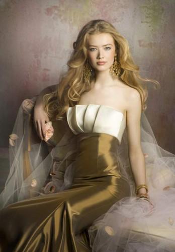 gogsu firfirli saten straplez uzun abiye elbiseler Yazlık Trend Straplez Elbise Modelleri 2