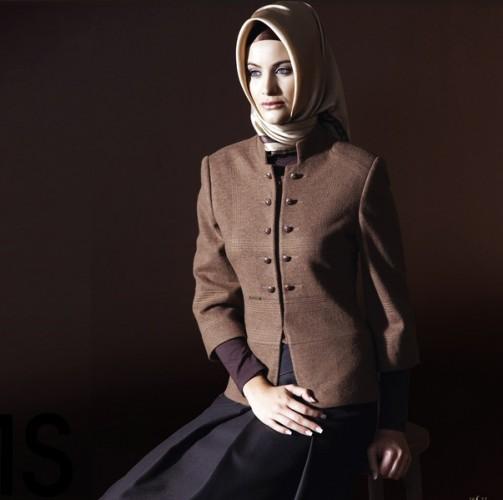 kase fakir kol bayan ceket modelleri En Güzel Tesettür Giyim Modelleri 14
