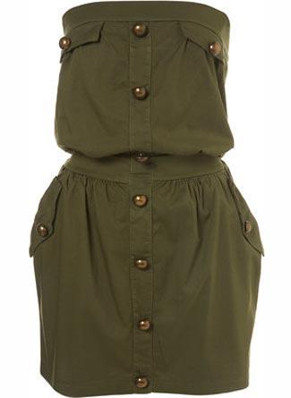 keten dugmeli mini straplez elbise modelleri Yazlık Trend Straplez Elbise Modelleri 3