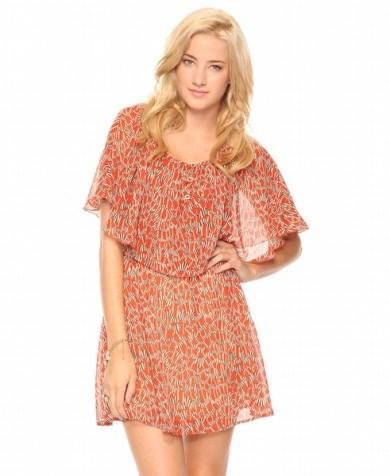 kisa kollu mini sifon elbise ornekleri Yeni Sezon Yazlık Şifon Elbise Modelleri 25