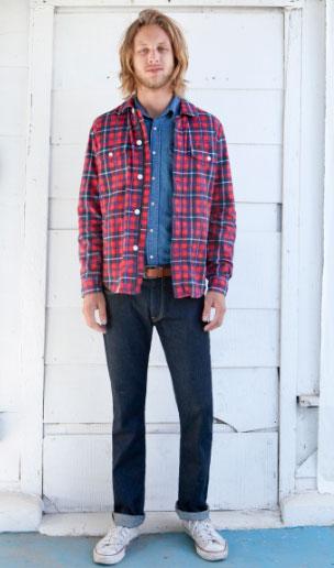 lee kareli kirmizi erkek gomlek modeli 2012 Lee İlkbahar Yaz Koleksiyonu 10