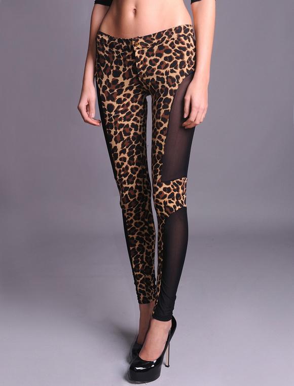 leopar desenli siyah yamali tayt ornekleri Yeni Trend 2012 En Güzel Farklı Tayt Modelleri 17