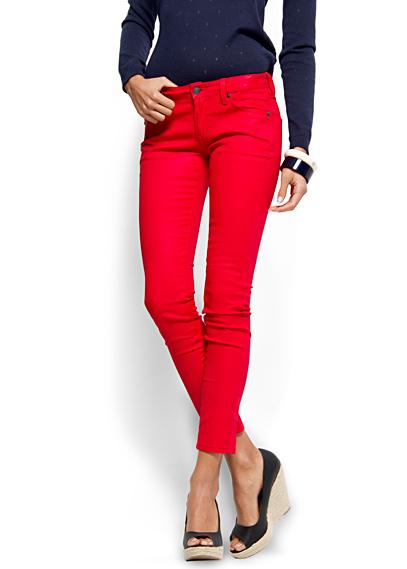 mango kirmizi dar jean pantolonlar Mango Yeni Sezon Jean Modelleri 5