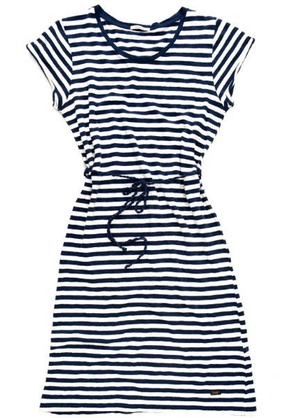 mavi beyaz cizgili kisa kollu tunik modeli 2012 Lee İlkbahar Yaz Koleksiyonu 15