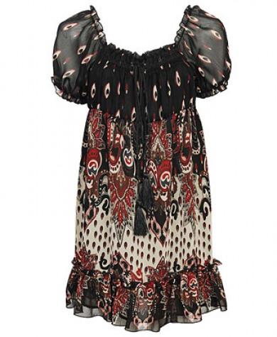 mini sifon elbise modelleri ornekleri Yeni Sezon Yazlık Şifon Elbise Modelleri 1