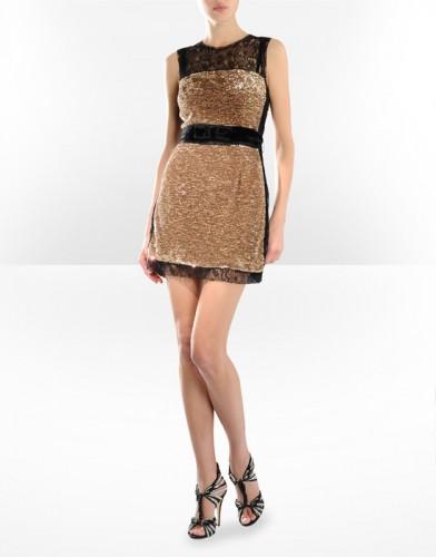 parlak sari siyah kolsuz mini elbise modelleri Yeni Sezon Dolce Gabbana Kreasyonu 22
