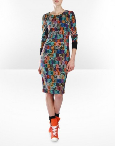 rengarenk spor kisa elbise modelleri Yeni Sezon Dolce Gabbana Kreasyonu 25