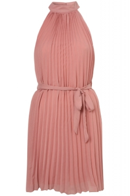 sifir kollu pembe sifon mini elbise modelleri Yeni Sezon Yazlık Şifon Elbise Modelleri 4