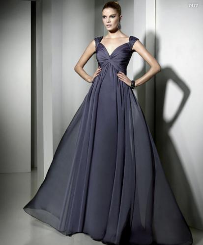 siyah kabarik abiye sifon elbise modelleri Yeni Sezon Yazlık Şifon Elbise Modelleri 5