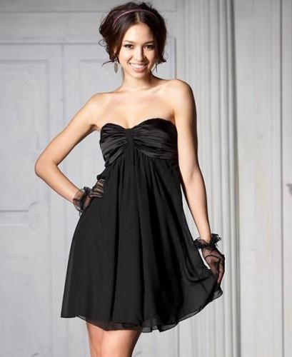 siyah mini straplez tul gece elbisesi Yazlık Trend Straplez Elbise Modelleri 10