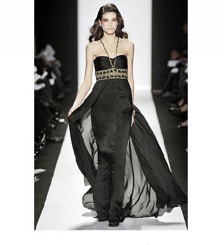 siyah saten sifon uzun abiye elbiseler Yeni Sezon Yazlık Şifon Elbise Modelleri 6