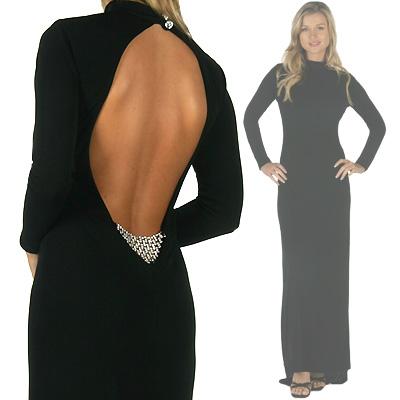 siyah sirt dekolteli abiye elbise modelleri En Güzel Dekolte Abiye Elbise Modelleri 19