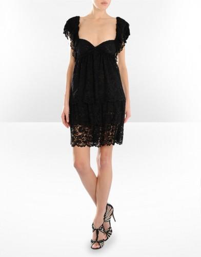 siyah transparan dantel kisa kollu yazlik elbiseler Yeni Sezon Dolce Gabbana Kreasyonu 37