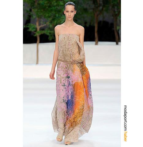 straplez maksi elbise modelleri ornekleri Yazlık Trend Straplez Elbise Modelleri 12