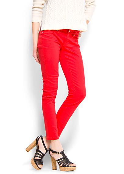 super strec kirmizi dar paca jean modelleri Mango Yeni Sezon Jean Modelleri 16
