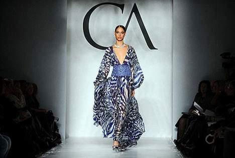 uzun kollu derin dekolteli sifon elbise modelleri Yeni Sezon Yazlık Şifon Elbise Modelleri 11