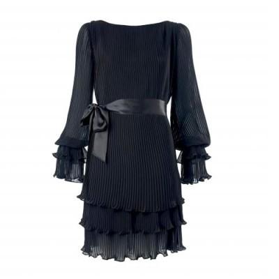 uzun kollu siyah abiye sik sifon elbiseler Yeni Sezon Yazlık Şifon Elbise Modelleri 12
