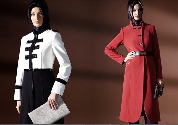 yeni sezon bayan manto modelleri En Güzel Tesettür Giyim Modelleri 27