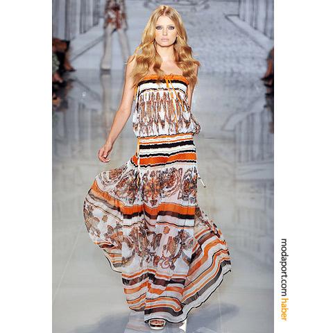 yeni sezon straplez uzun elbise modelleri Yazlık Trend Straplez Elbise Modelleri 14