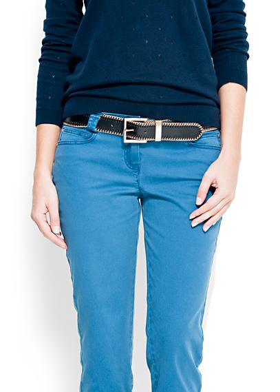 yeni trend deri zincir bayan kemerleri Mango 2012 Kemer Modelleri 8