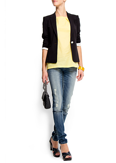 yirtik en guzel kot pantolonlar Mango Yeni Sezon Jean Modelleri 19