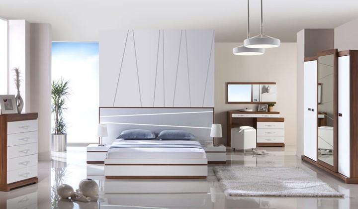 beyaz yatak odasi modelleri Yeni Sezon Marka Yatak Odası Modelleri 4