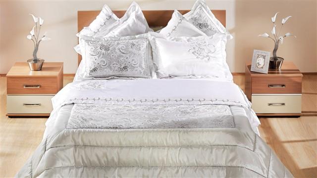 beyaz yatak seti ornekleri Yeni Sezon İstikbal Yatak Seti Modelleri 15