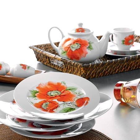 buyuk gul desenli kahvalti takimi ornegi Yeni Sezon Kütahya Kahvaltı Takımları 3