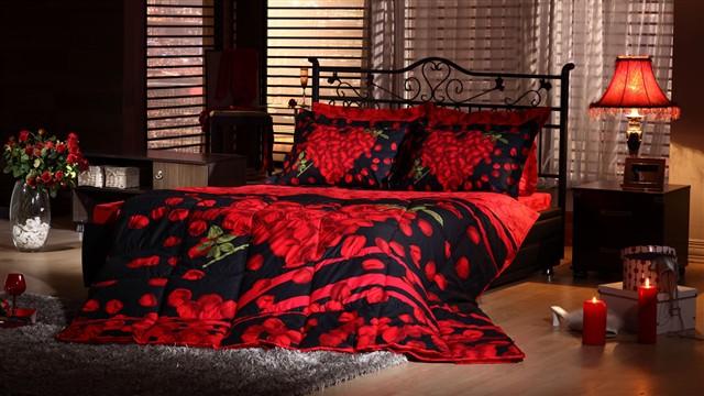 kirmizi siyah en guzel uyku seti modelleri İstikbal Uyku Seti Modelleri 8