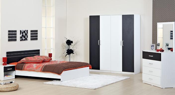 merinos siyah beyaz yatak odalari Yeni Sezon Marka Yatak Odası Modelleri 12