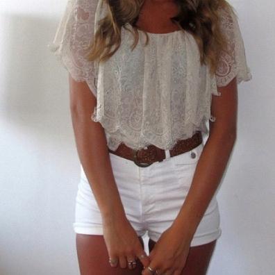 beyaz keten yuksek bel pantolon ornekleri Mini Yazlık Bayan Şort Modelleri 2