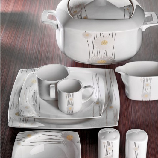 icek desenli kare yemek takimi modelleri Schafer Yemek Takımı Modelleri 4