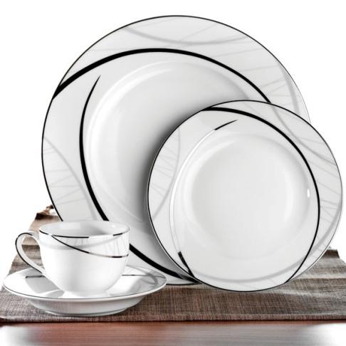 siyah desenli yuvarlak schafer yemek takimi Schafer Yemek Takımı Modelleri 27