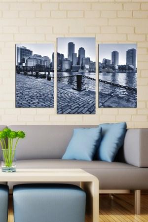 dekoratif sik ahsap tablo cesitleri 3 Parçalı Ahşap Tablo Modelleri 7