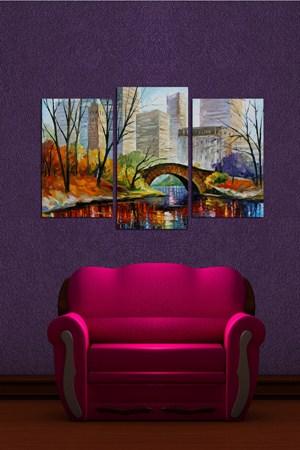 en guzel tablo ornekleri 3 Parçalı Ahşap Tablo Modelleri 9