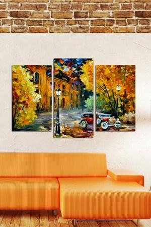 en sik tablo ornekleri modeli 3 Parçalı Ahşap Tablo Modelleri 11