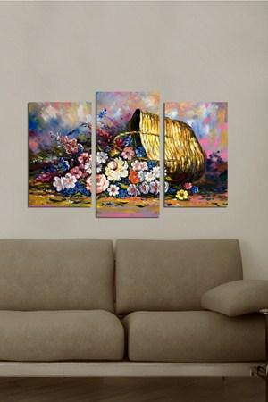 farkli ve sik tablo cesitleri 3 Parçalı Ahşap Tablo Modelleri 12