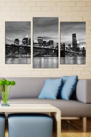 istanbul bogaz manzarali tablo ornekleri 3 Parçalı Ahşap Tablo Modelleri 14