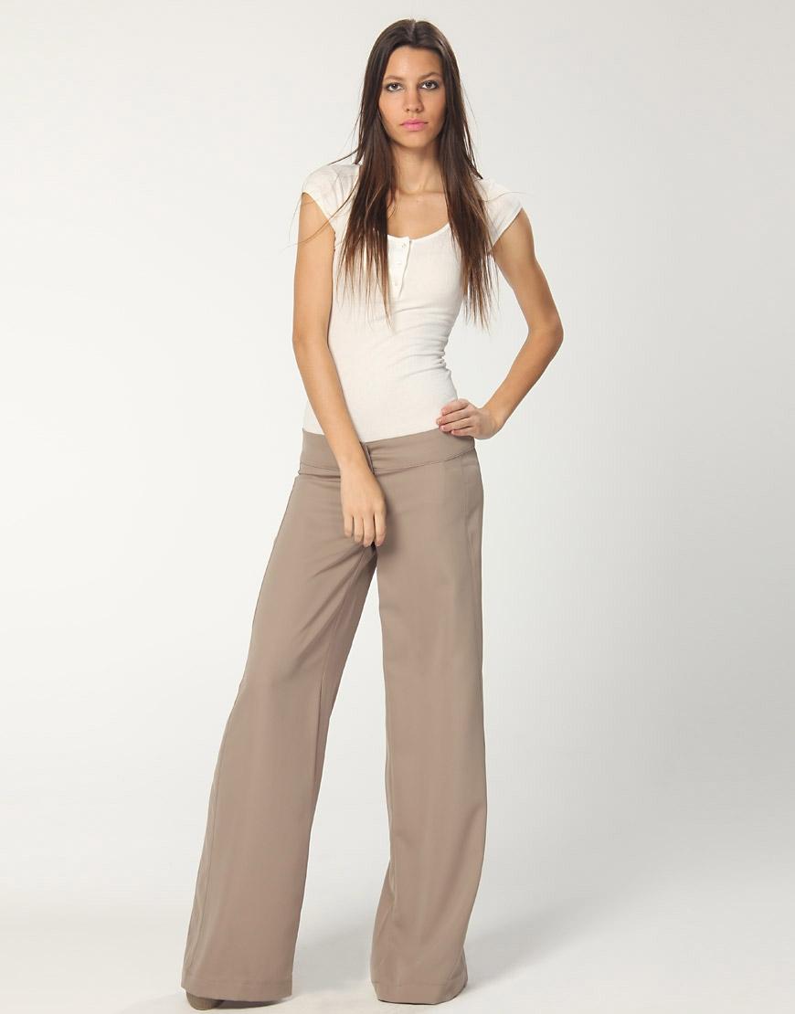 kahverengi bol paca keten pantolon Yeni Trend Farklı Bayan Pantolonları 10