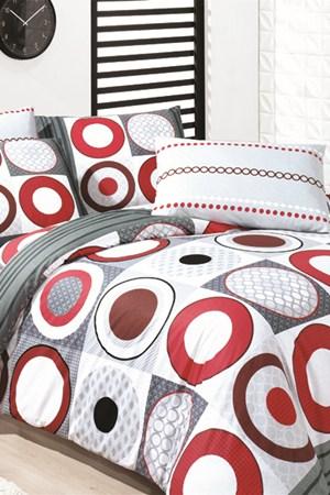 kirmizi daire desenli uyku seti cesitleri En Güzel Tek Kişilik Uyku Seti Örnekleri 6