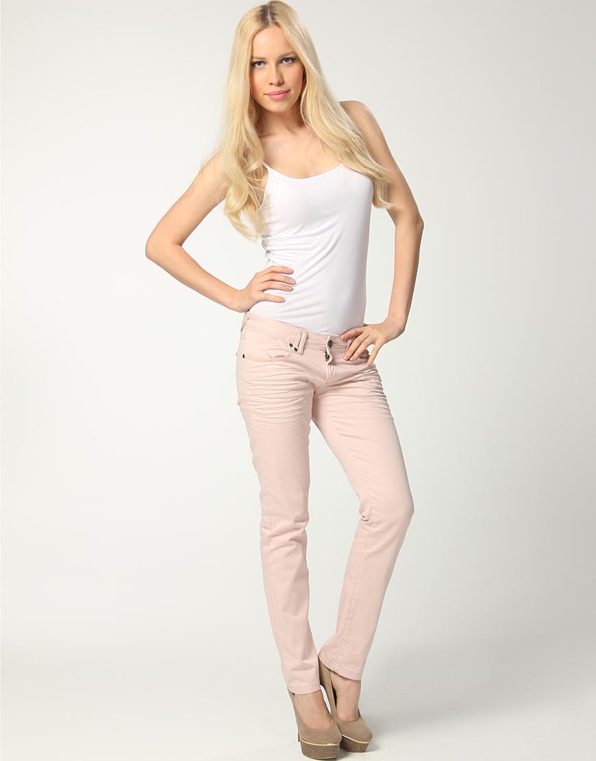krem rengi dar paca pantolon modelleri Yeni Trend Farklı Bayan Pantolonları 12