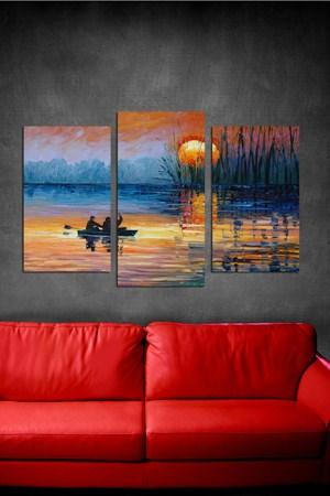 manzara gorunumlu dekoratif tablolar 3 Parçalı Ahşap Tablo Modelleri 19